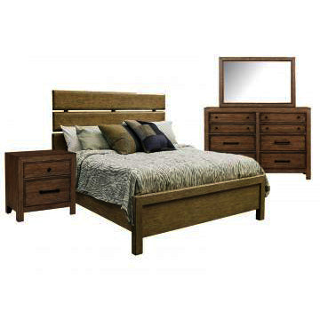 Pulaski Flatbush 3 Piece Plank Style Platform Bedroom Set w/Bureau