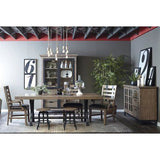 Pulaski Flatbush 7 Piece Cast Metal Pedestal Dining Room Set w/Stools