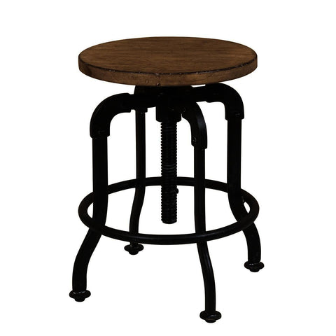 Pulaski Flatbush Metal & Wood Adjustable Height Stool