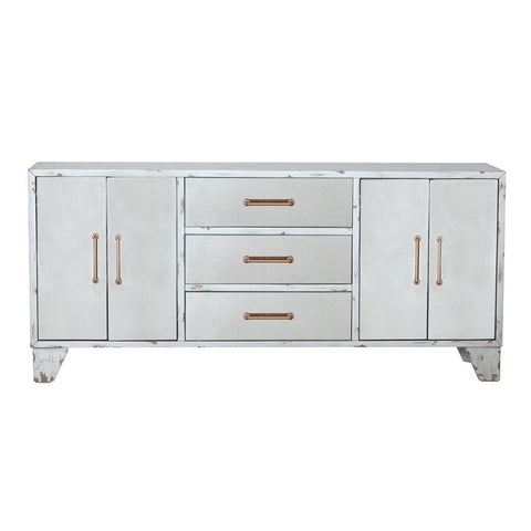 Pulaski Four Door Antique Mirrored Sideboard