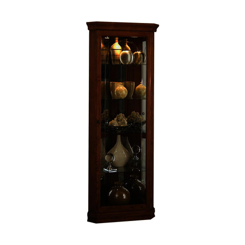 Pulaski Golden Oak Mirrored Corner Curio