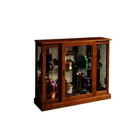 Pulaski Golden Oak Mirrored Curio Console