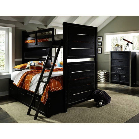 Pulaski Graphite 2 Piece Twin Bunk Bedroom Set