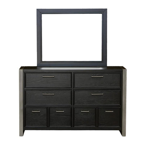 Pulaski Graphite Youth Dresser w/Mirror in Brown