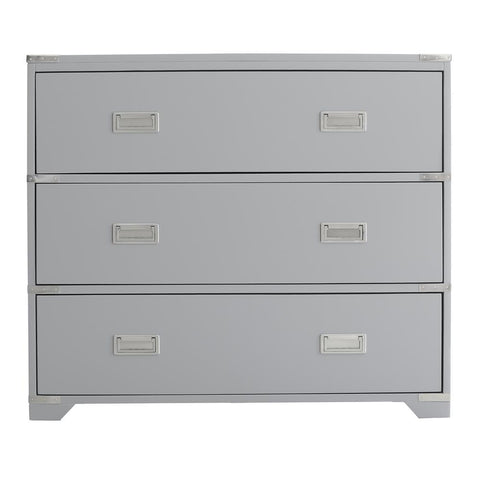 Pulaski Grey Campaign Style Drawer Chest