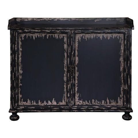 Pulaski Grey Distressed Bar Cabinet