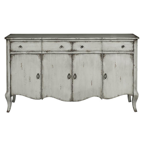 Pulaski Grey Distressed Credenza in Grey