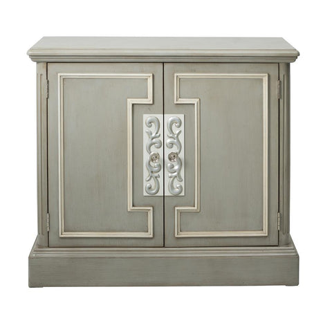 Pulaski Grey Door Chest w/White Frame Overlay