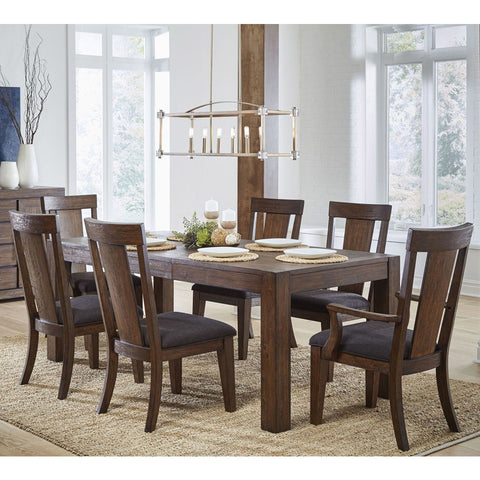 Pulaski Henna 7 Piece Rectangular Leg Dining Room Set in Brown