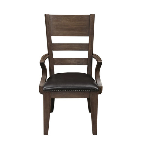 Pulaski Hops Dining Arm Chair in Brown