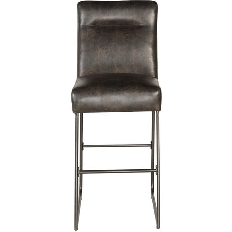 Pulaski Industrial Faux Leather Barstool