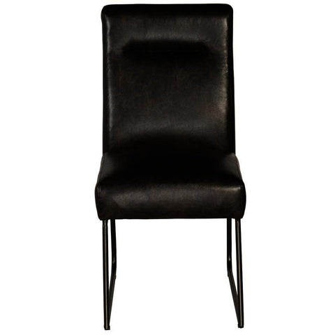 Pulaski Industrial Faux Leather Dining Chair