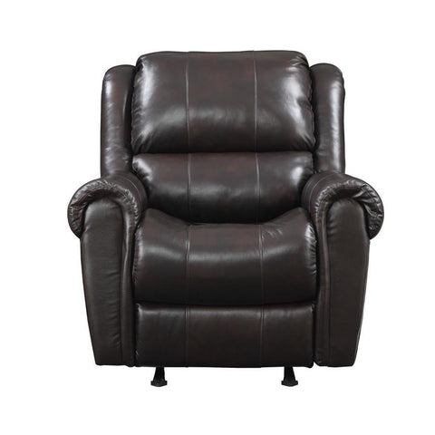 Pulaski Leather Rocker Recliner Chocolate