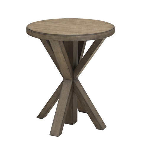 Home Fare Light Oak Plank Top End Table