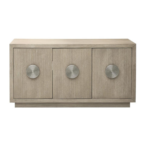 Pulaski Light Oak Three Door Credenza in Beige