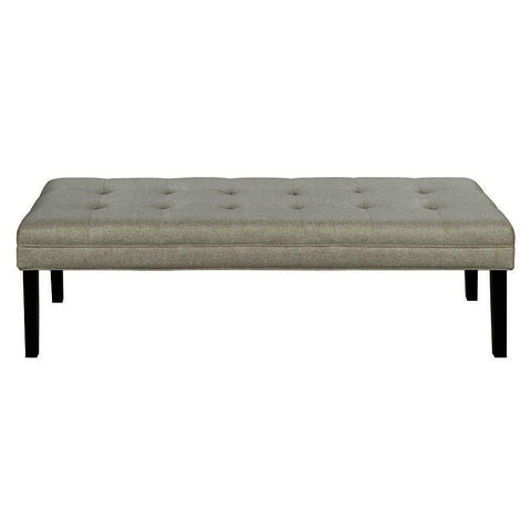 Pulaski Linen-like Modern Tufted Bed Bench