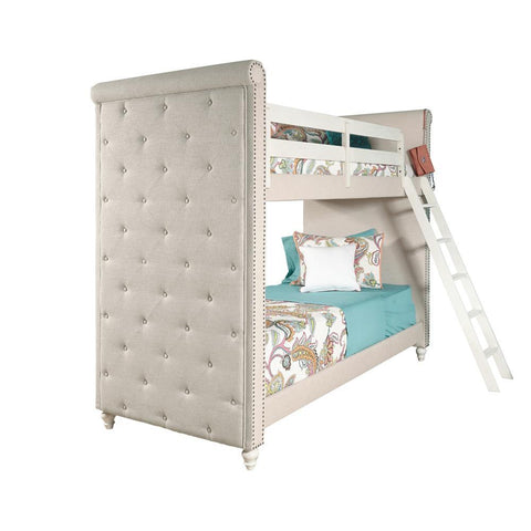 Pulaski Madison Youth Twin Bunk Bed w/Ladder in White