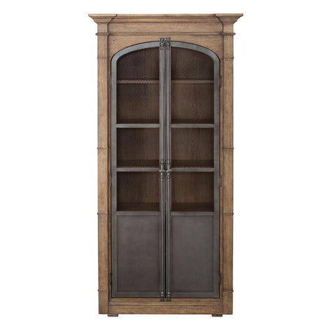 Pulaski Metal Door Light Oak Display Cabinet