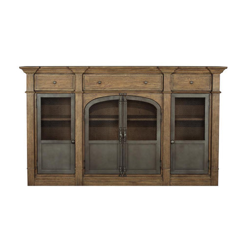 Pulaski Metal Door Light Oak Sideboard