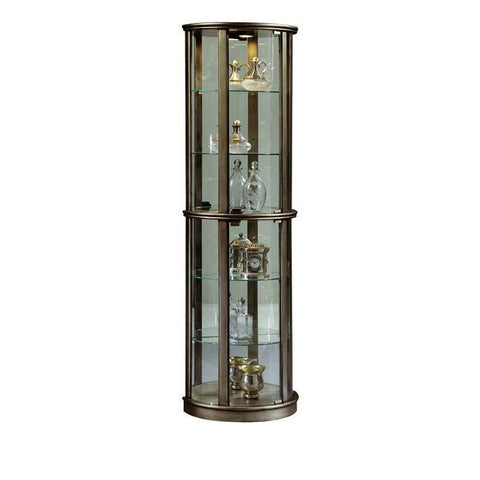 Pulaski Metallic Mirrored Half Round Curio