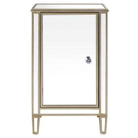Pulaski Mirrored Wine Cabinet w/Gold Trim