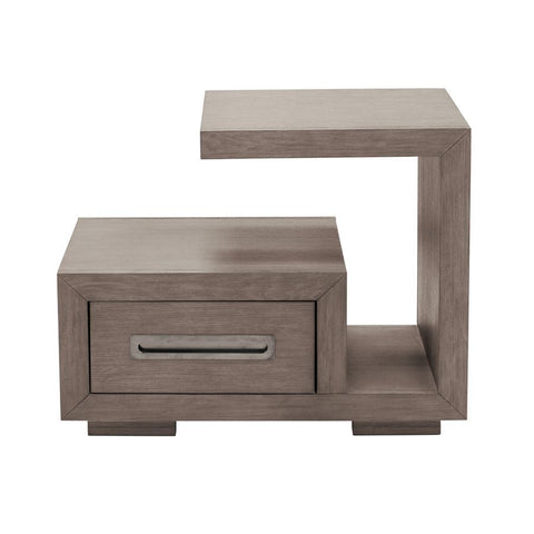 Pulaski Modern 1 Drawer Cantilever Nightstand in Natural Taupe