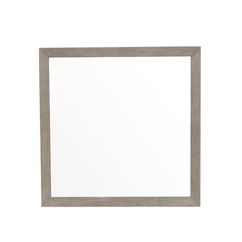 Pulaski Modern Dresser Mirror in Natural Taupe