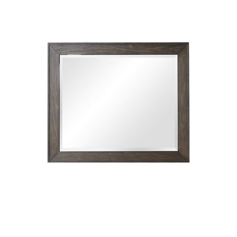 Home Fare Modern Farmhouse Dark Oak Landscape Mirror
