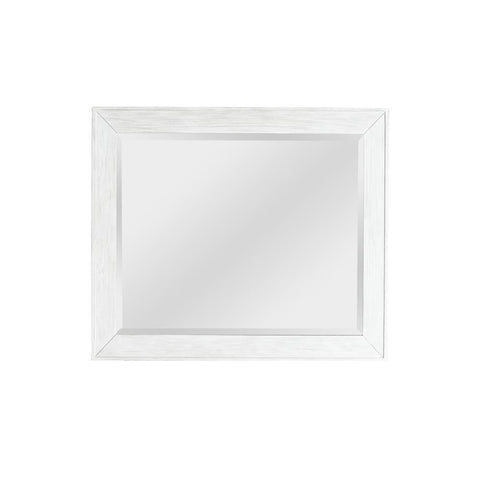 Pulaski Modern Farmhouse White Landscape Mirror