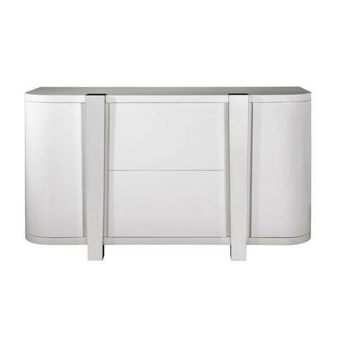 Pulaski Modern High Gloss Wine Cloud Grey Console