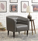 Pulaski Modern Style Charcoal Faux Leather Club Chair