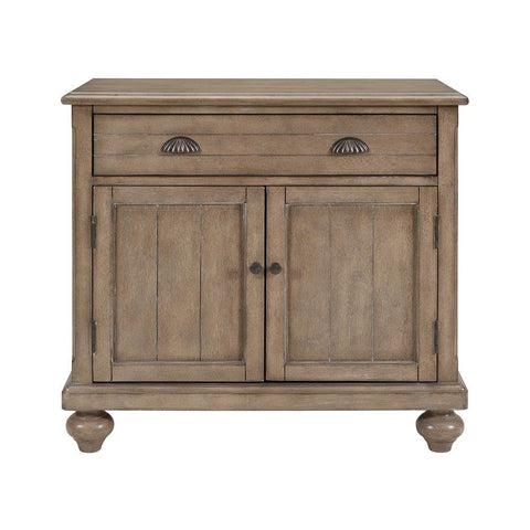 Pulaski Natural Farmhouse Hall Chest in Brown