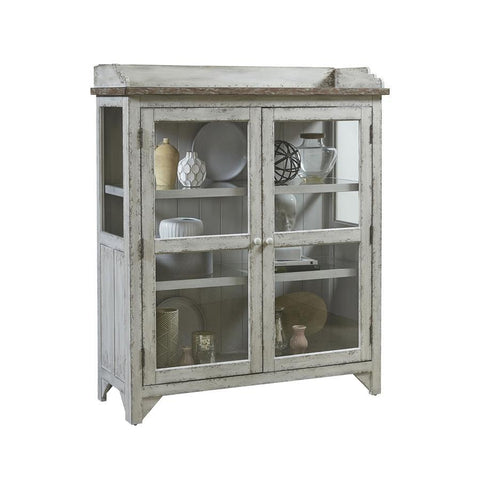 Pulaski Nicole Accent Display Cabinet in Grey