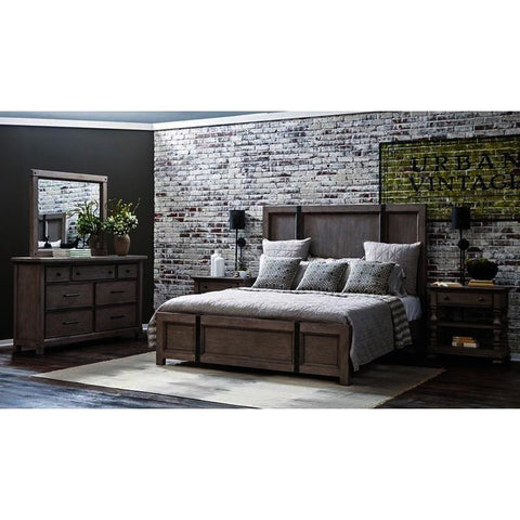 Pulaski Prospect Hill 4 Piece Metal Strap Platform Bedroom Set