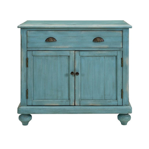 Pulaski Robins Egg Farmhouse Hall Chest in Blue