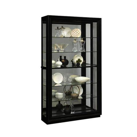 Pulaski Rockfor Mirrored Tow Way Sliding Door Curio