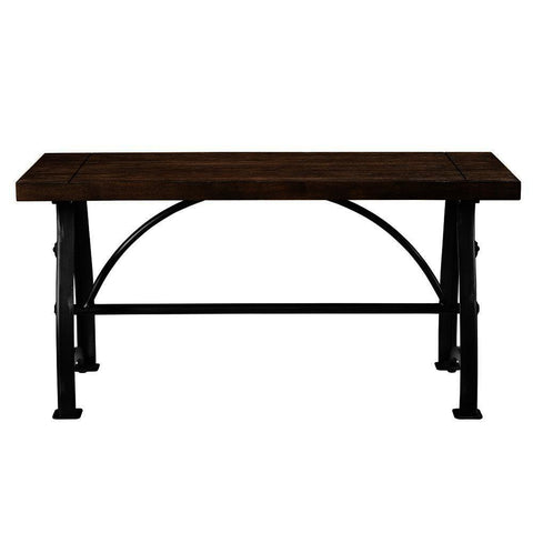 Pulaski Rosebank Wood & Metal Dining Bench