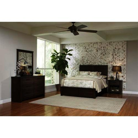 Pulaski Ruff Hewn 3 Piece Platform Bedroom Set w/Dresser in Brown