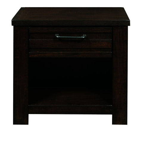 Pulaski Ruff Hewn Nightstand in Brown