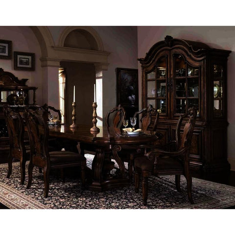 Pulaski San Mateo 8 Piece Double Pedestal Dining Room Set w/China