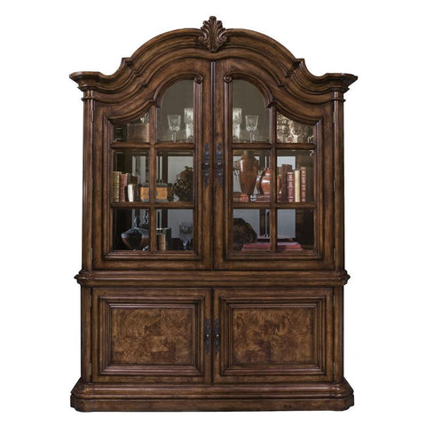 Pulaski San Mateo China Cabinet in Brown