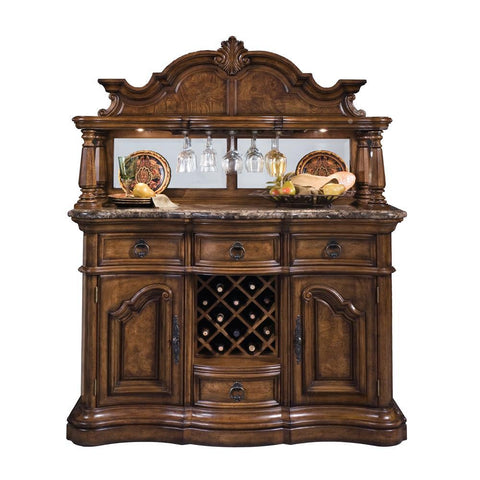 Pulaski San Mateo Sideboard & Hutch in Brown
