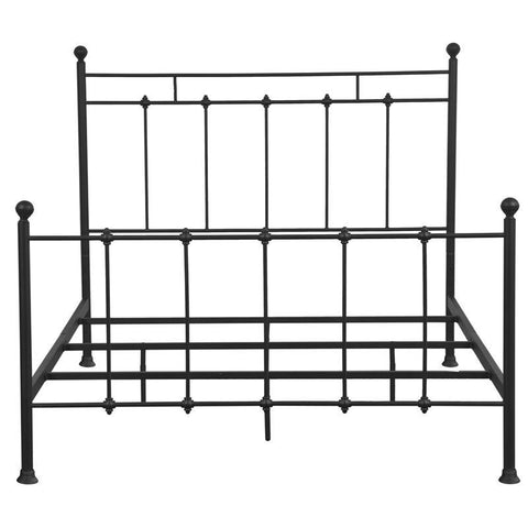 Pulaski Shaker Style King Metal Bed in Black
