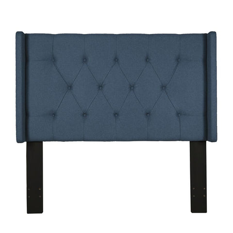 Pulaski Shelter Button Tufted Headboard in Blue