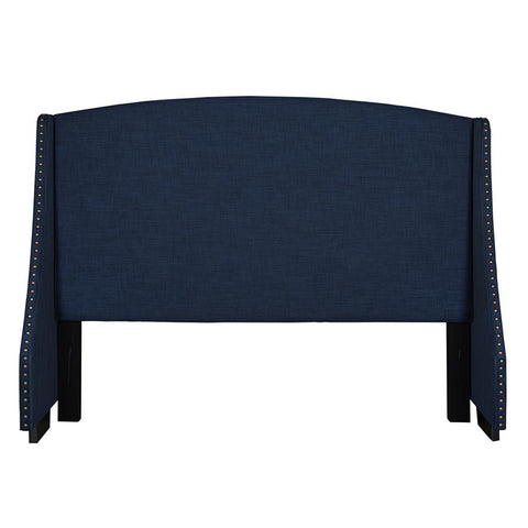 Pulaski Shelter Style Upholstered Headboard in Navy Blue
