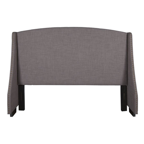 Pulaski Shelter Style Upholstered Queen Headboard in Heathered Brown