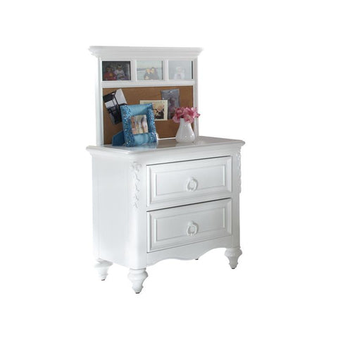Pulaski SweetHeart Youth Nightstand w/Back Panel in White
