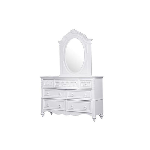 Pulaski Sweetheart Kids Dresser w/Mirror in White