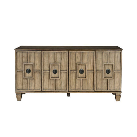 Pulaski Tradewinds Four Door Sideboard in Honey Brown