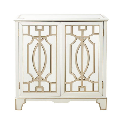 Pulaski Traditional Mirrored Door Chest w/Champagne Gold Overlays